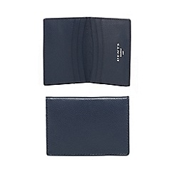 Dents - Navy leather radio-frequency identification credit card holder