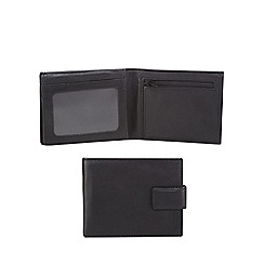 The Collection - Black leather data protection lined wallet