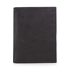 The Collection - Black leather data protection lined card holder
