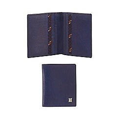 Hammond & Co. by Patrick Grant - Navy leather credit card holder with data protection lining