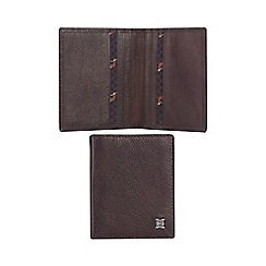 Hammond & Co. by Patrick Grant - Brown leather card holder with data protection lining