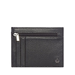 Jeff Banks - Black leather credit card holder with data protection