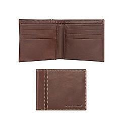 RJR.John Rocha - Brown leather debossed logo wallet