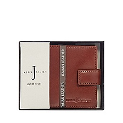 J by Jasper Conran - Tan leather tab wallet in a gift box