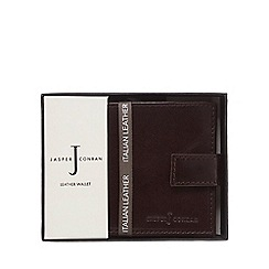 J by Jasper Conran - Brown leather tab wallet in a gift box