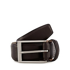 J by Jasper Conran - Black leather nubuck lined belt