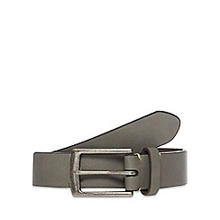 Red Herring - Grey leather skinny belt
