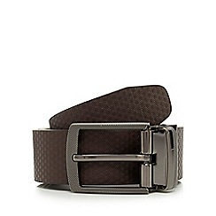Jeff Banks - Brown leather reversible belt