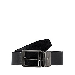 Jeff Banks - Black leather coated reversible belt