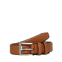 The Collection - Tan leather double keeper belt