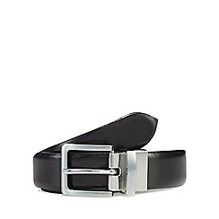 J by Jasper Conran - Black leather reversible belt