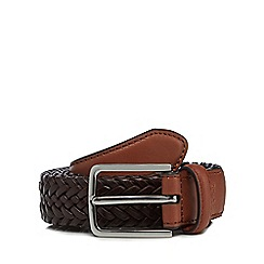 Hammond & Co. by Patrick Grant - Brown leather plait belt