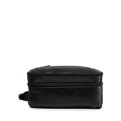 Jeff Banks - Black double zip wash bag
