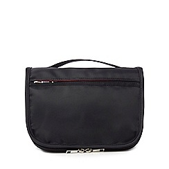 The Collection - Black flap hanging wash bag