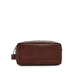 J by Jasper Conran - Brown leather wash bag