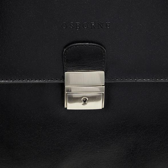 briefcase Osborne buckle Black single leather FRRv1S