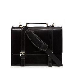Osborne - Black leather single buckle briefcase