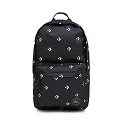Converse - Black chevron star print backpack