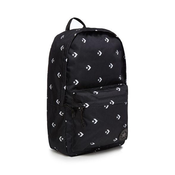 Black backpack chevron print star Converse dXwYxzX