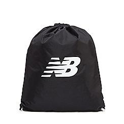 New Balance - Black cinch sack bag