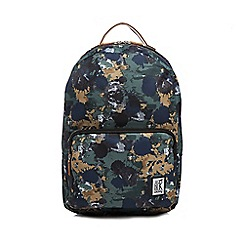 The Pack Society - Khaki 'Classic' printed backpack