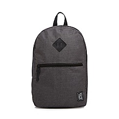 The Pack Society - Grey checked backpack