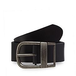 Mantaray - Black leather oval shaped buckle