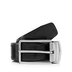 Jeff Banks - Designer brown coated leather reversible belt