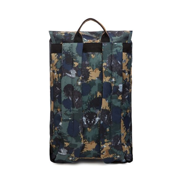 The Society printed backpack Khaki Pack 5rwfg5