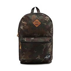 Animal - Khaki 'Traitor' camouflage backpack