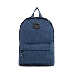 Red Herring - Dark blue textured backpack