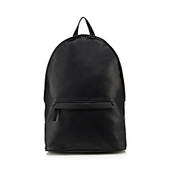 Red Herring - Black curved backpack