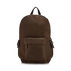 Mantaray - Brown twill backpack