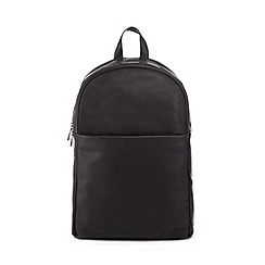 J by Jasper Conran - Black pebbled leather backpack