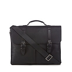 J by Jasper Conran - Black pebbled briefcase