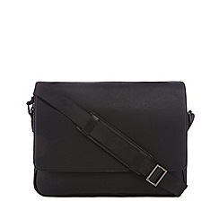 J by Jasper Conran - Black pebbled despatch bag