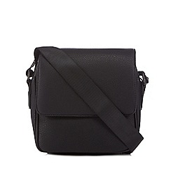 J by Jasper Conran - Black pebbled city despatch bag