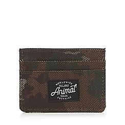 Animal - Brown textured credit card holder