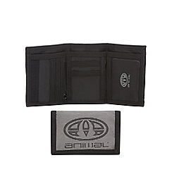 Animal - Grey logo textured wallet