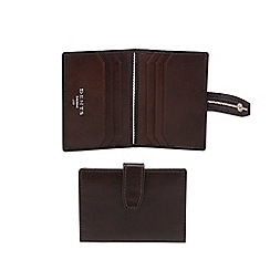 Dents - Brown leather radio frequency ID blocking card holder