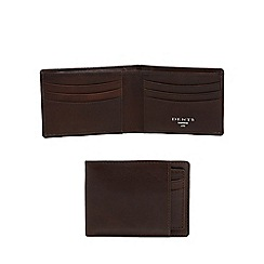 Dents - Brown leather slim billfold wallet and card holder
