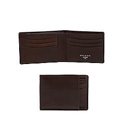 Dents - Brown leather slim billfold wallet and card holder