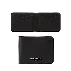Levi's - Black leather debossed logo wallet
