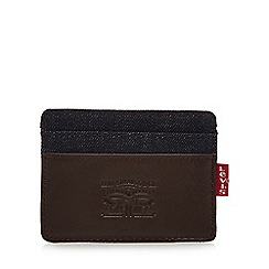 Levi's - Dark brown denim wallet