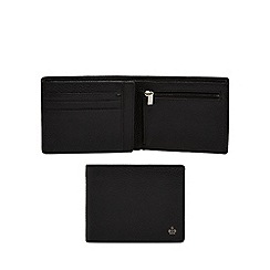Jeff Banks - Black leather grained wallet with data protection