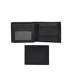 J by Jasper Conran - Black leather billfold data protection wallet