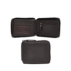 RJR.John Rocha - Brown leather zip around wallet
