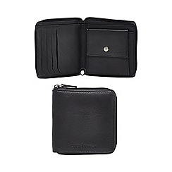 J by Jasper Conran - Black leather zip around wallet