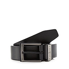 Jeff Banks - Black reversible leather belt