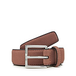 Red Herring - Big and tall pink suede belt